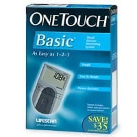 Onetouch Basic Glucose Meter Diabetic Live