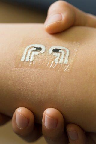 Rub-On, Tattoo-Like Sensor for Testing Blood Sugar Levels